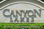 Canyon Lakes community sign