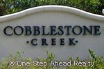 Cobblestone Creek community sign