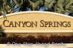 Canyon Springs community sign