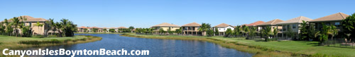 Many residents of Canyon Isles in Boynton Beach, FL enjoy a lake view sich as this one.